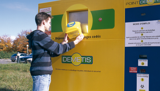 Borne de collecte automatisée DEMETIS - DASRI